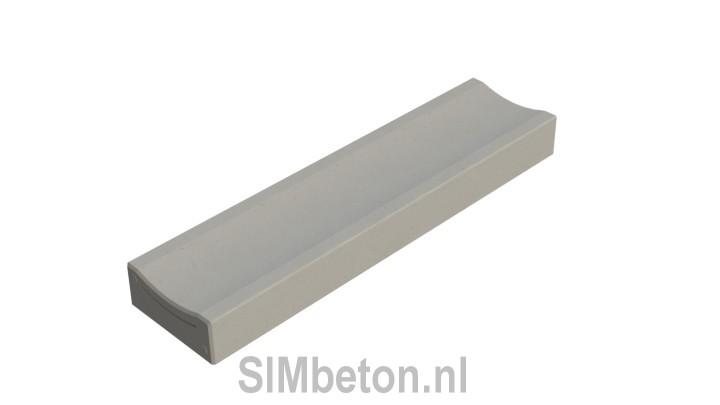 structure lisse Bordure caniveau béton